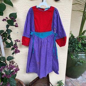Vintage Mousefeathers Corduroy Girls Dress Size 6
